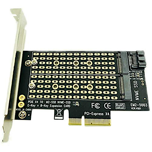 ACAMPTAR Pcie Zu M2 / M.2 M.2 Ngff Zu Desktop Pcie X4 X8 X16 Nvme Sata Dual Ssd Pci Express Karte