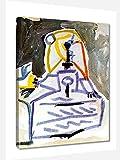Pablo Picasso Las Meninas Cuadro Decoración Pared Cuadros Para Dormitorios Modernos Lienzo Cuadros Decorativos Decoracion de Salones Listo para colgar (50x65cm20x26inch, enmarcado)