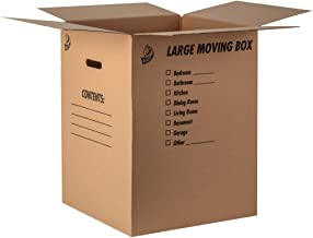 """Duck Brand Kraft Corrugated Shipping Boxes, 18"""" x 18"""" x 24"""", Brown, 6-Pack (1139734)"""
