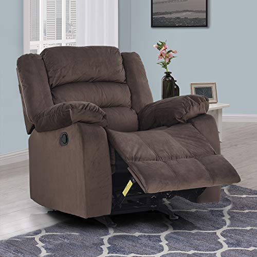 Royaloak Divine Single Seater Rocking Recliner (Brown).