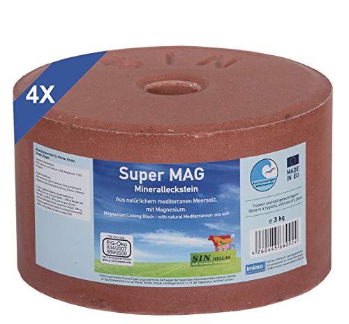 imima SuperMAG 4er Set Mineralleckstein, 4X 3kg