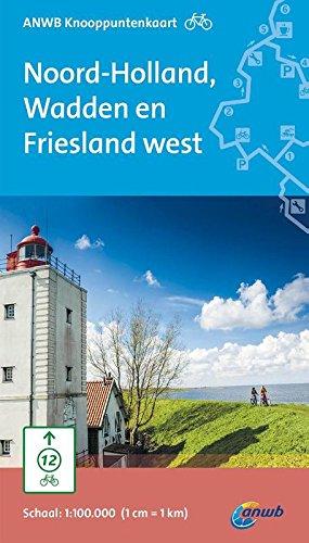 ANWB knooppuntenkaart fiets Noord-Holland, Wadden en Friesland west