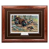 FRAMED AND MATTED WILDLIFE PICTURE TO MATCH YOUR DECOR - Decorative Matting, with a Premium Dark Green Double Matte Leather with an 2 Inch Solid Oak Hardwood Frame with Light Oak Finish HIGHEST QUALITY - Made of American Oak Hardwood with premium lac...