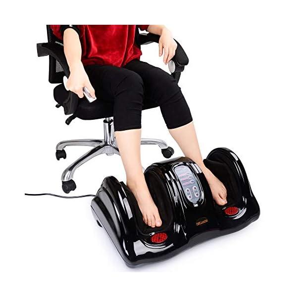 H&B Luxuries Shiatsu Kneading Rolling Foot Massager Personal Health Studio ZH-9902-black