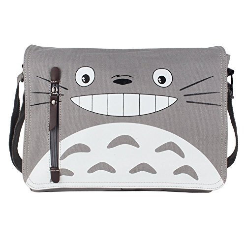 Innturt Anime Classic Messenger Bag Shoulder Bag Satchel (Totoro - Gray)