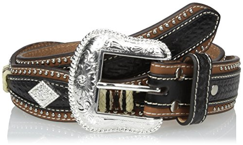 Nocona Men's Pro Black Diamond Scalloped Belt