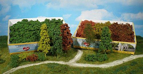 Heki 1634 Laubbäume und Sträucher, 15 Stück, Herbstfarben