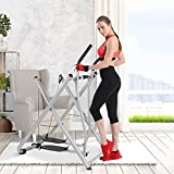Fetpo Glider Elliptical Folding Exercise Machine, Air Walk Trainer, Foldable 264LB Max Weight, Home Gym Workout Air Walkers