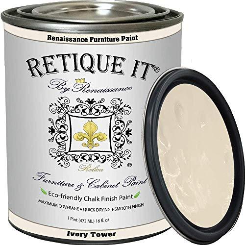 Retique It Chalk Furniture Paint by Renaissance DIY, 16 oz (Pint)