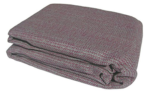 MP Essentials Weaved Supreme Rot Weatherproof Ground Covering Groundsheet Tent & Awning Carpet - PLUM & GREY