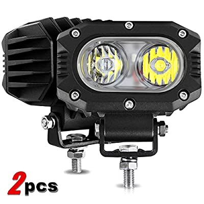 2PCS 4 Inch LED Light Pods FLOOD 48W Cube LED Work Light Bar Pod Lights Wterproof 6000K White Compatible with J-eep ATV Boat Off Road 4x4 Backup Truck Motorcycle SUV