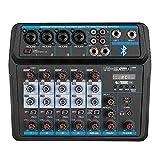 Professional Wireless Audio Mixer Sound Board-6 Channel Digital Bluetooth USB Computer Compatible Input DJ Controller...