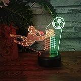 Fußball-Weltmeisterschaft FIFA Champion Trophy Fußball Sportler Action Led Nachtlicht Schlafzimmer Dekorationen Tischlampe Kinder Geschenk