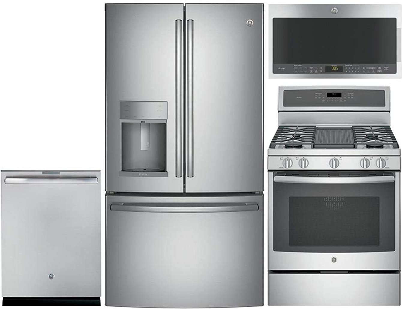 GE Profile 4 Piece Kitchen Package with PYE22KSKSS 36