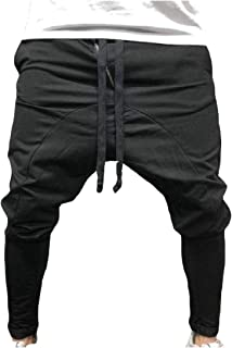 Mogogo Men's Outdoor Pure Relaxed-Fit Mid Waist Hip Hop Casual Sweatpant