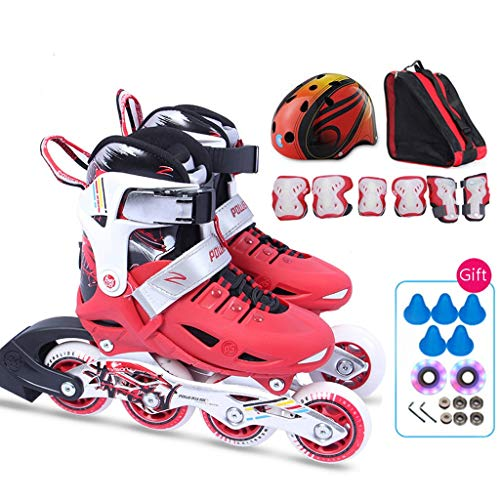 Best Price Inline skates Children's Beginners Skates Roller Skates, Adjustable Size, 3 Colors (Color...