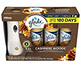 Glade Automatic Spray Cashmere Woods: 1 Automatic Spray Unit; 2 AA Batteries; 3 Refills, 6.2 oz Each, Total: 18.6 oz