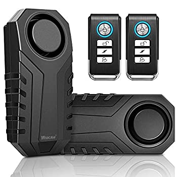 Wsdcam Bike Alarm with Remote 2 Pack 113dB Wireless Anti-Theft Vibration Motorcycle Bicycle Alarm Waterproof Vehicle Security Alarm System