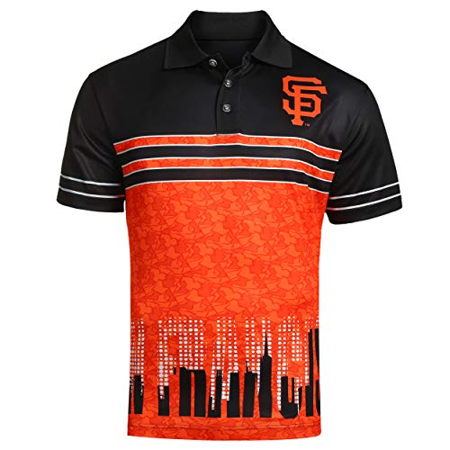 FOCO MLB SAN Francisco Giants Raglan Poly Polo Skyline Large
