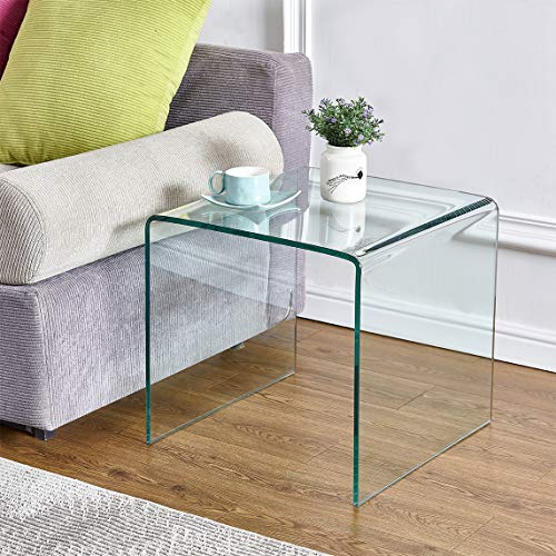 Tempered Glass Table Living Room Table (20x16x18)