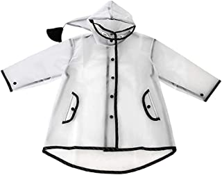 Dolity Children's Waterproof Rain Coat Boys Clothes Girls Jacket Rainwear Rainsuit