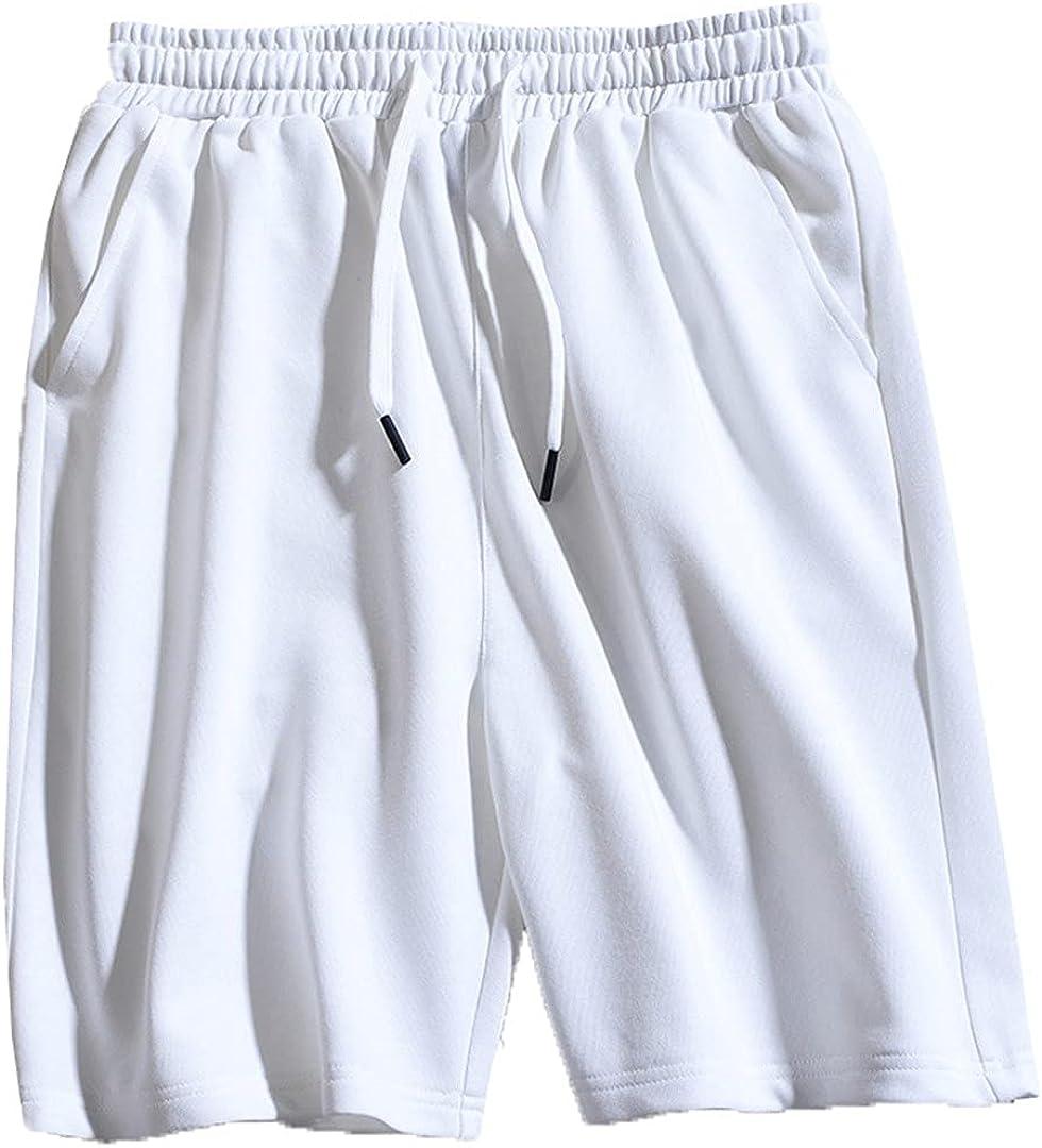 Kevents Summer Sport Shorts Men Cotton Drawstring Sportswear Outerwear Solid Loose Shorts Male