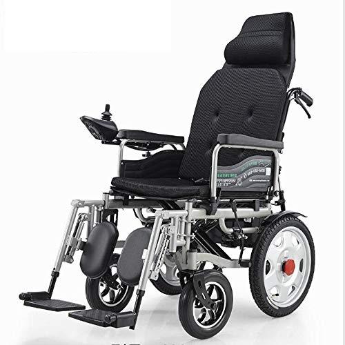 Reclinable plegable silla de ruedas eléctrica pedal de batería inteligente de litio en silla de ruedas 20A / 500W / 15 millas de viaje para la silla de ruedas eléctrica ancianos / discapacitados,Negro
