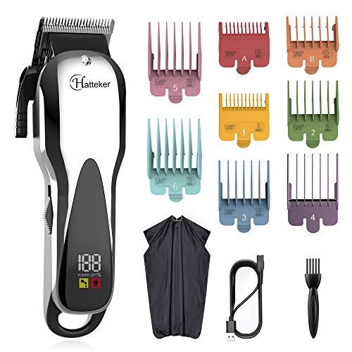 Hatteker Tagliacapelli tagliacapelli professionale tagliacapelli da uomo regolabarba regolabarba regolabarba trimmer di precisione rifinitore per capelli lunghi uomo