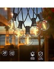 WBTY Fairy Lights, batteridriven utomhus LED-ljusslingor USB LED väderbeständiga glödlampor ljusslinga varmt vitt för fest jul halloween balkong trädgård gård dekoration