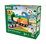 Brio World - 33878 - Circuit Transport Fret - Coffret complet 19 pièces tunnel et grue pivotante - Transport de marchandises - Circuit de train en bois - Dès 3 ans