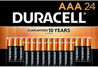 Duracell - CopperTop AAA Alkaline Batteries - Long Lasting, All-Purpose Triple A Battery for Household and Business - 24 Count
