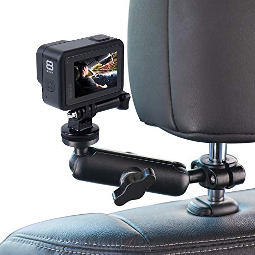 WADAHEFA 360° Rotating Sports Camera Bracket, Motorcycle Rearview Mirror, car seat mounting Bracket, Used for GoPro Hero5/6/7/8/9 + Sports Camera Accessories.