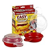 LI&HI Easy Eggwich Microwave Egg Cooker, Red and clear
