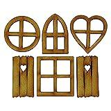 Kit de manualidades de ventana de hadas Autoensamblaje 3D Kits de ventana de puerta de elfo de hadas de madera Decoración de jardín Paisaje en miniatura Casa de muñecas Adorno Regalo para niños