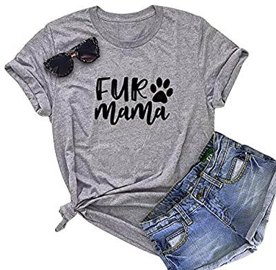 BANGELY Dog Mom Letters Printed Women's Funny T Shirt Casual O-Neck Short Sleeve Tees Tops Blouses