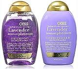 Organix Sulfate Free Hydrate & Color Reviving + Lavender Luminescent Platinum Shampoo 13 Oz and Conditioner 13 Oz 'Set'