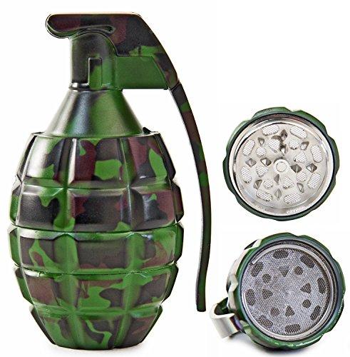 Unbekannt Seiler24 Metallgrinder Handgranaten Design Camouflage Optik