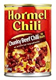 HORMEL No Bean Chunky Chili, 15 Ounce (Pack of 8)