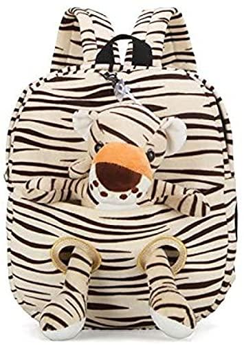 Mochila para niños de peluche animal mochila de dibujos animados tigre jirafa escuela bolsa de hombro niño desmontable muñeca felpa suave bebé juguetes niños cumpleaños Navidad