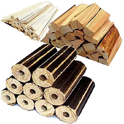 No57薪 薪 ソロキャンプ 長時間燃えるモミガライトと良く燃える針葉樹の薪と焚付をセットにしました 宅配80サイズ【産地】長野県 八ヶ岳通販