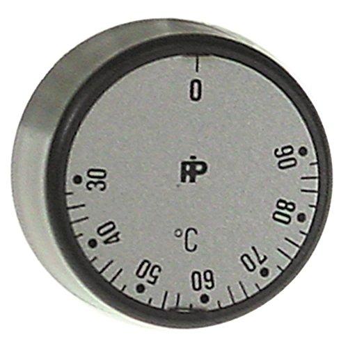Modular Knebel für Thermostat ø 30mm 30-90°C für Achse ø 6x4,6mm mit Abflachung oben schwarz max. Temperatur 90°C
