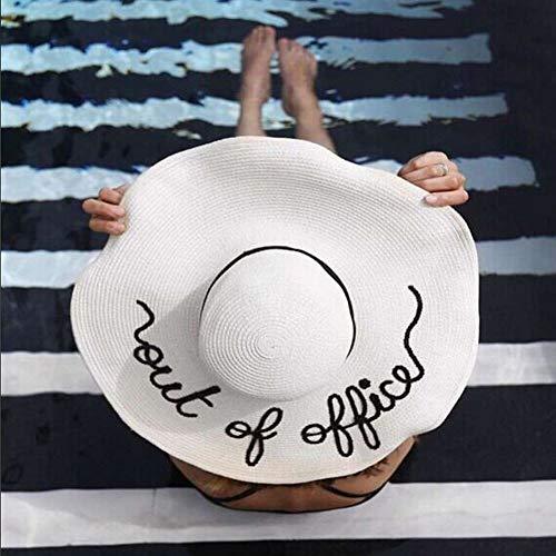 YUYILIN Sombrero De Paja Señoras Hombres Sombrero De Paja De Verano c