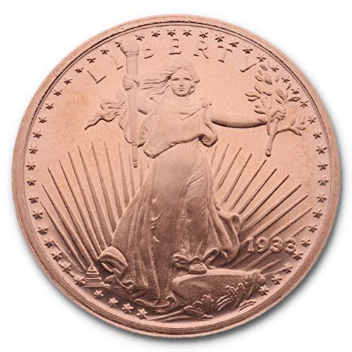 Golden State Mint 1 Unze (AVDP) .999 fein Kupfer Saint-Gaudens