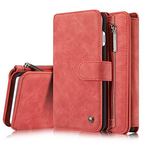 GHC Fundas & Covers para iPhone 8 Plus/iPhone 7 Plus, PU Billetera de Cuero del Caso del tirón de la Cubierta del Caso para el iPhone Plus 8/7 Plus de 5,5 Pulgadas. (Color : Red)