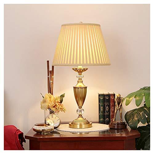 UQY Lámpara de pie, De pie de la lámpara de pie alto poste de la luz de pie de la lámpara de estudio de estilo europeo de cobre completo lámpara de mesa regulable retro creativo- lámpara de mesa-a-a-s