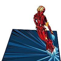 Lovepop Marvel アイアンマン I Love You 3000 ポップアップカード - 3Dカード アイアンマンカード ポップアップバースデーカード お父さん用バースデーカード ポップアップグリーティングカード