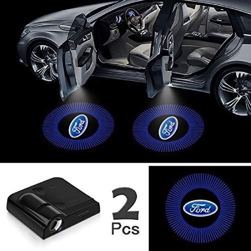 "JOJOY LUX 2 Pack Car Door Lights Logo Projector, Universal Wireless Car Door Led Projector Lights, Upgraded Car Door Welcome Logo Projector Lights with 3.M Sticker,for""F0RD"""