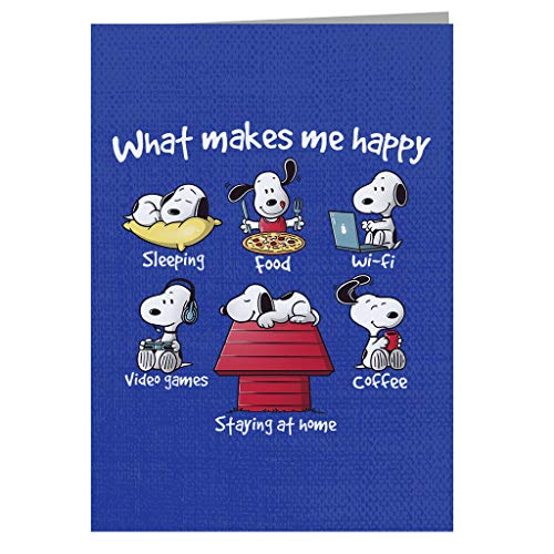 Snoopy Staying At Home Makes Me Happy Greeting Card