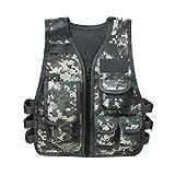 Alvivi Gilet Tattico da Pesca con Multitasche per Bambini Combat Vest Vestito Army Camoufl...