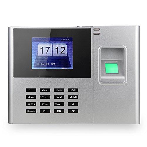 KKmoon 2.8' Asistencia Biométrico de Huellas Dactilares Tiempo ,Color Blanco